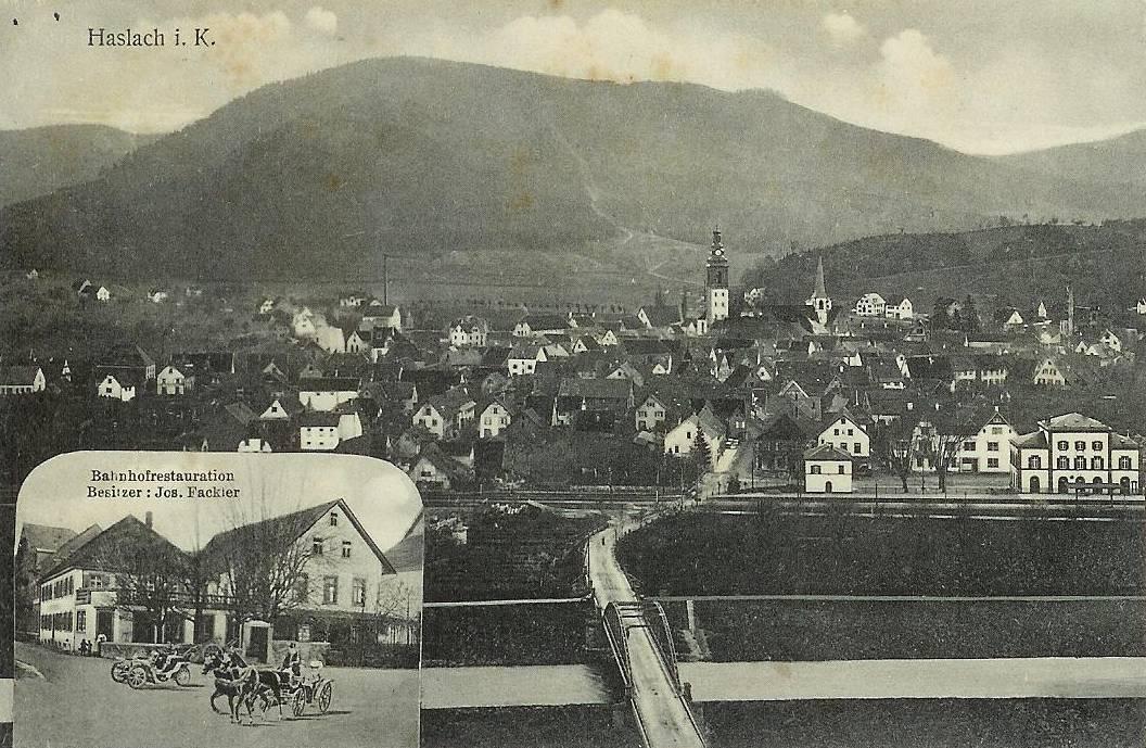 Haslacher Stadtansicht um 1915